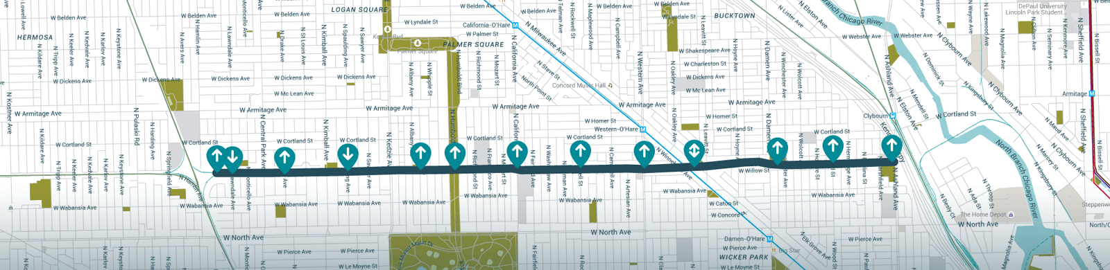 606 Trail Map